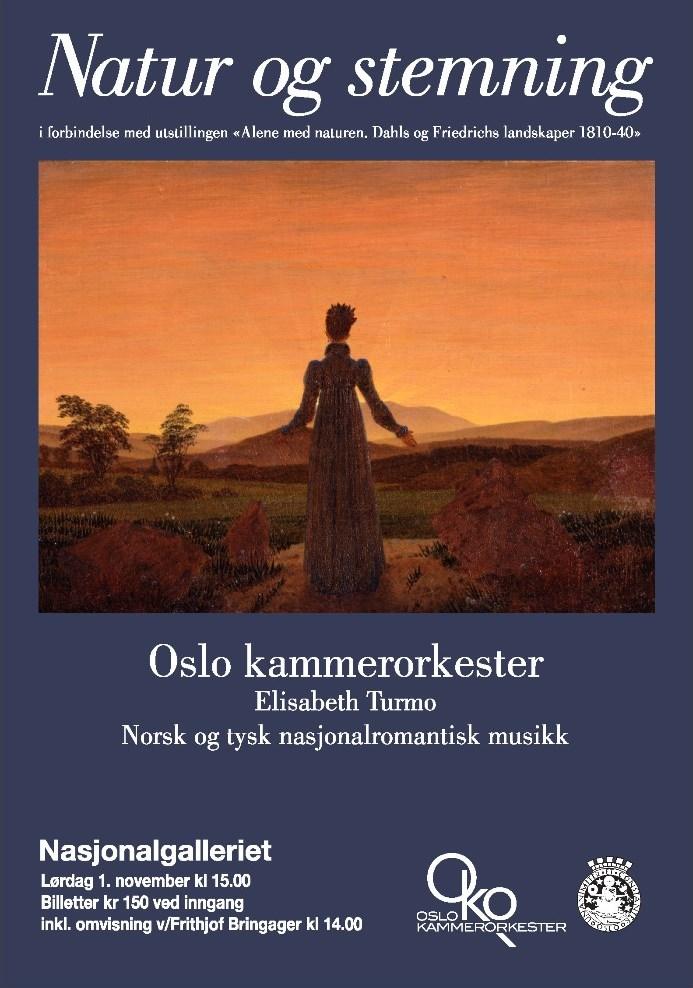 Plakat for konsert med Oslo kammerorkester 1. november 2014