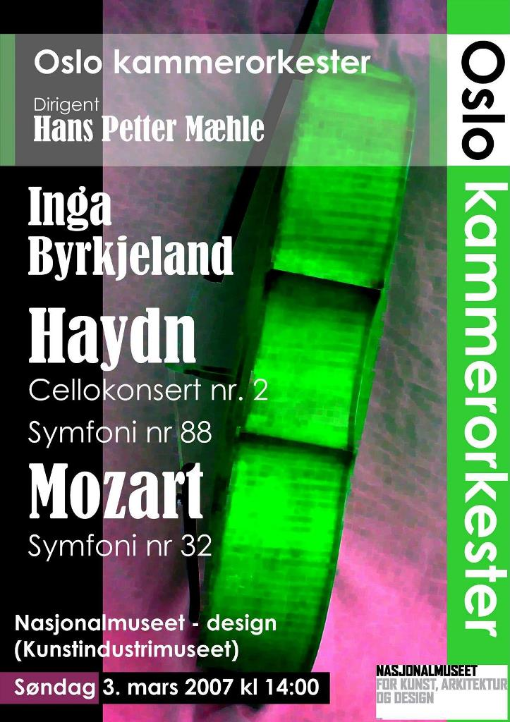 Plakat for konsert Oslo kammerorkester 2. mars 2008