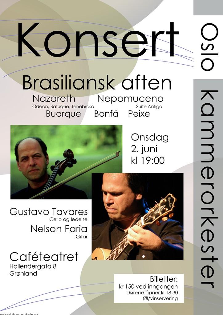 Plakat for konsert med Oslo kammerorkester 2. juni 2010