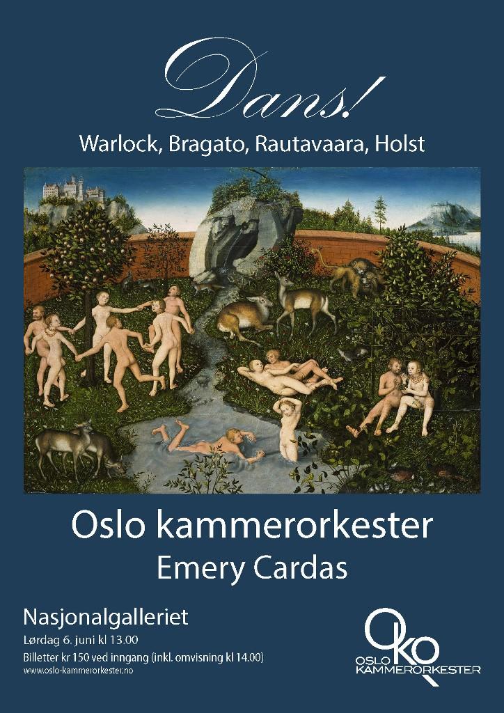 Plakat for konsert med Oslo kammerorkester 6. juni 2015