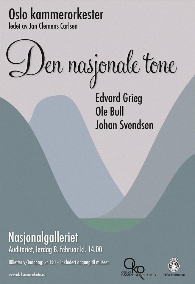Plakat for konsert med Oslo kammerorkester 8. februar 2014