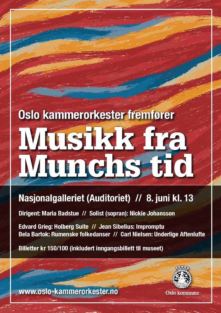 Plakat for konsert med Oslo kammerorkester 8. juni 2013