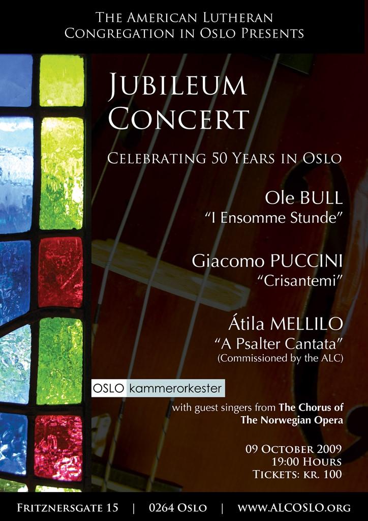 Plakat for konsert med Oslo kammerorkester 9. oktober 2009