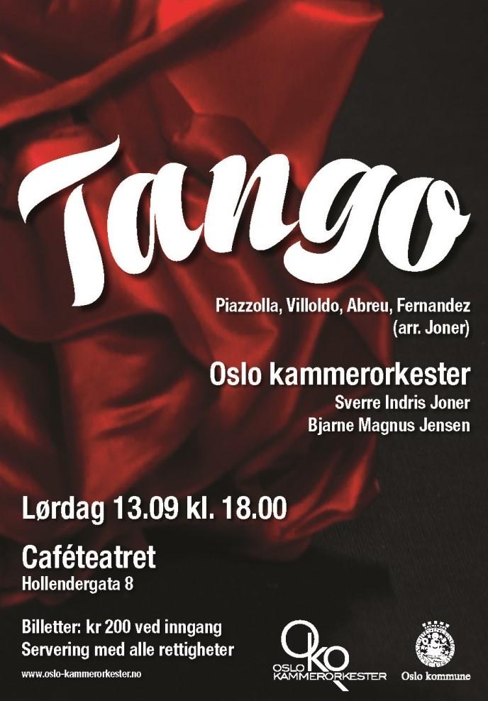 Plakat for konsert med Oslo kammerorkester 13. september 2014