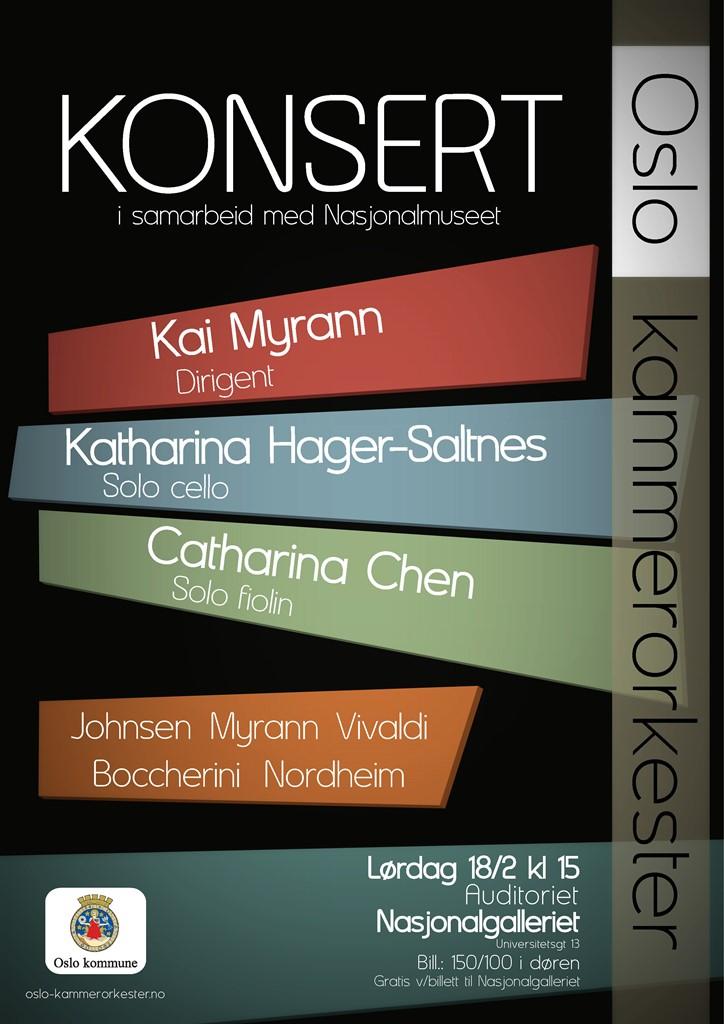 Plakat for konsert med Oslo kammerorkester 18. februar 2012