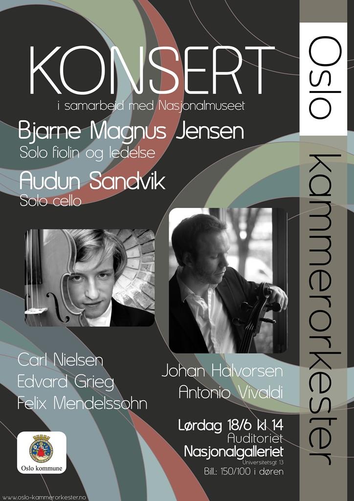 Plakat for sommerkonsert med Oslo kammerorkester 18. juni 2011