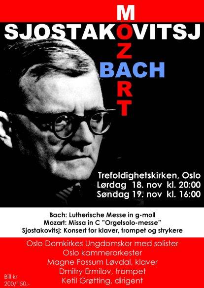 Plakat for konsert med Oslo kammerorkester 18. og 19. november 2006