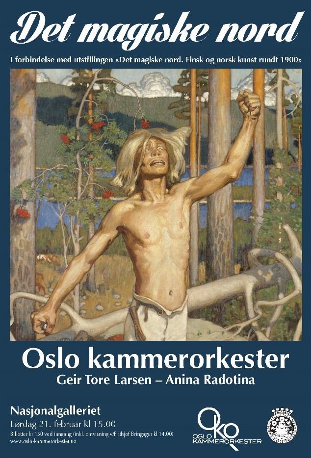 Plakat for konsert med Oslo kammerorkester 21. februar 2015