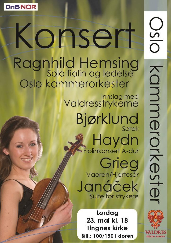 Plakat for konsert med Oslo kammerorkester 23. mai 2009