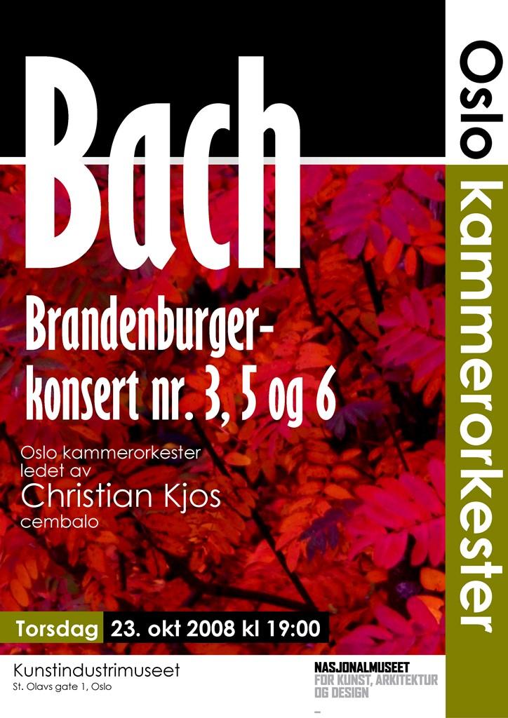 Plakat for konsert med Oslo kammerorkester 23. oktober 2008