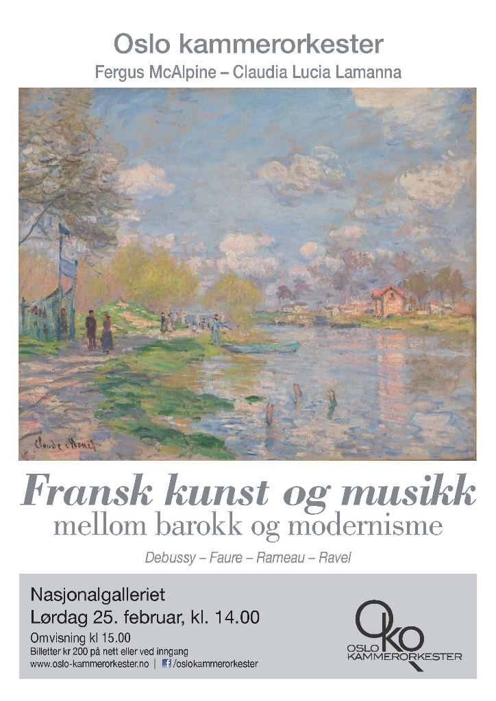 Plakat for konsert med Oslo kammerorkester 25. februar 2017