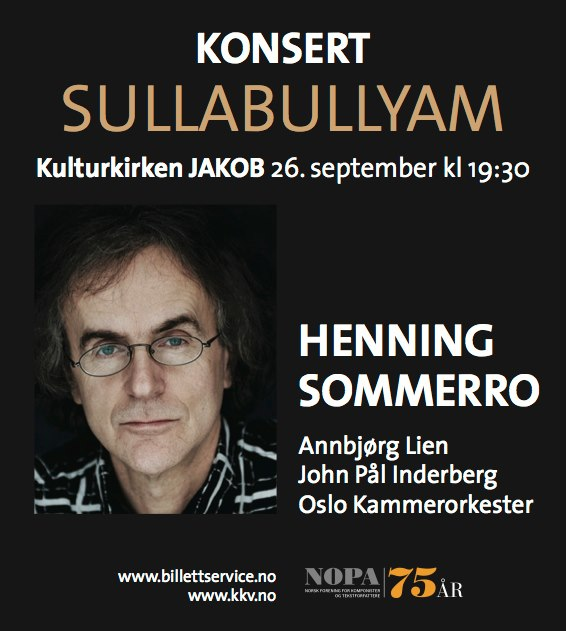 Plakat for konsert med Oslo kammerorkester 26. september 2012