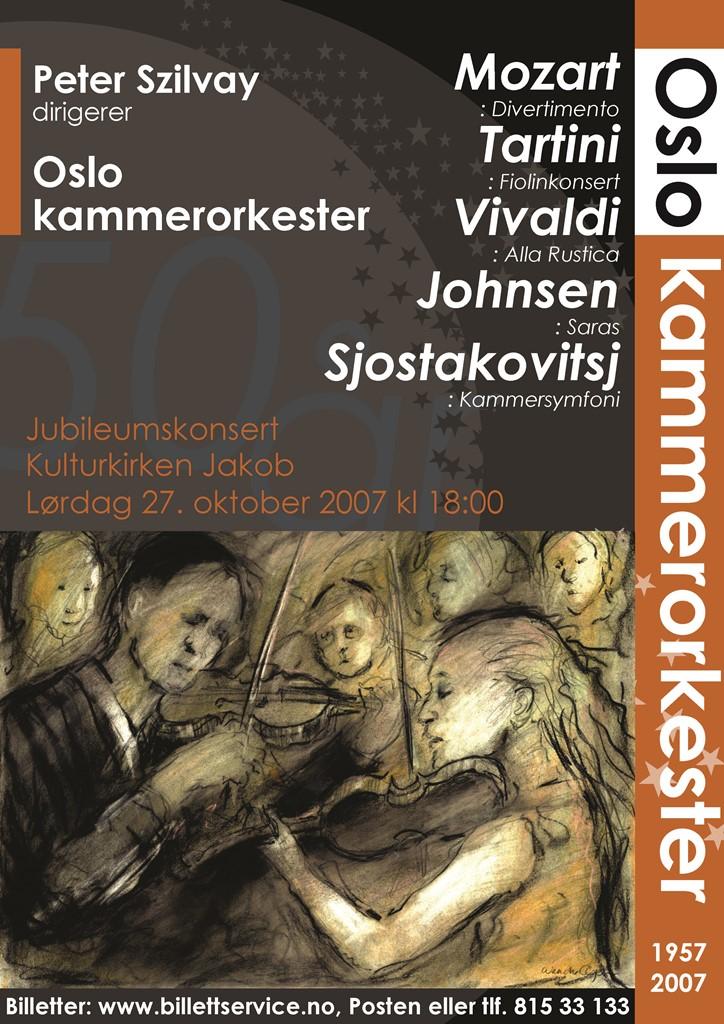 Plakat for konsert med Oslo kammerorkester 27. oktober 2007