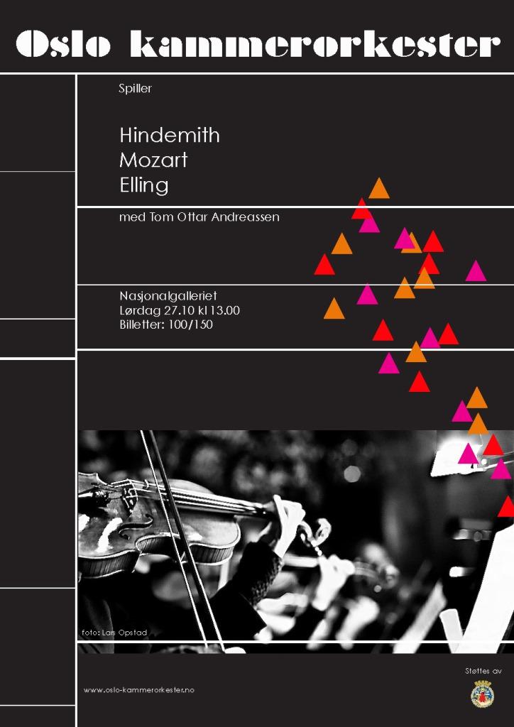 Plakat for konsert med Oslo kammerorkester 27. oktober 2012