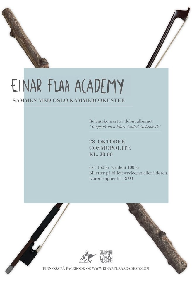 Releasekonsert for Einar Flaa Academy med Oslo kammerorkester 28. oktober 2011
