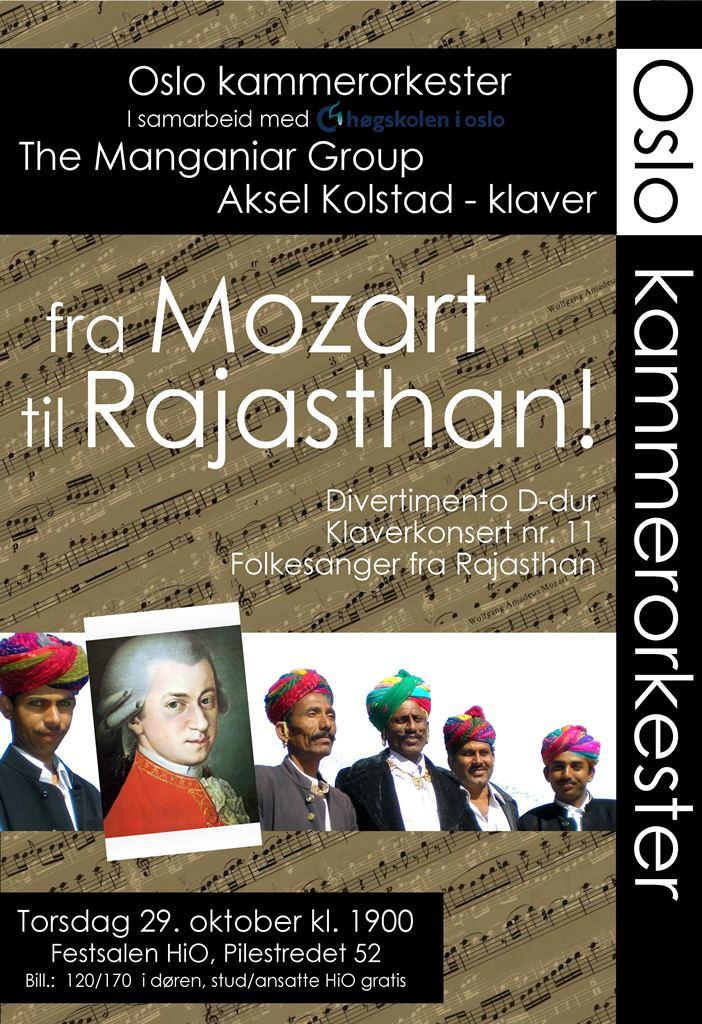 Plakat for konsert med Oslo kammerorkester 29. oktober 2009
