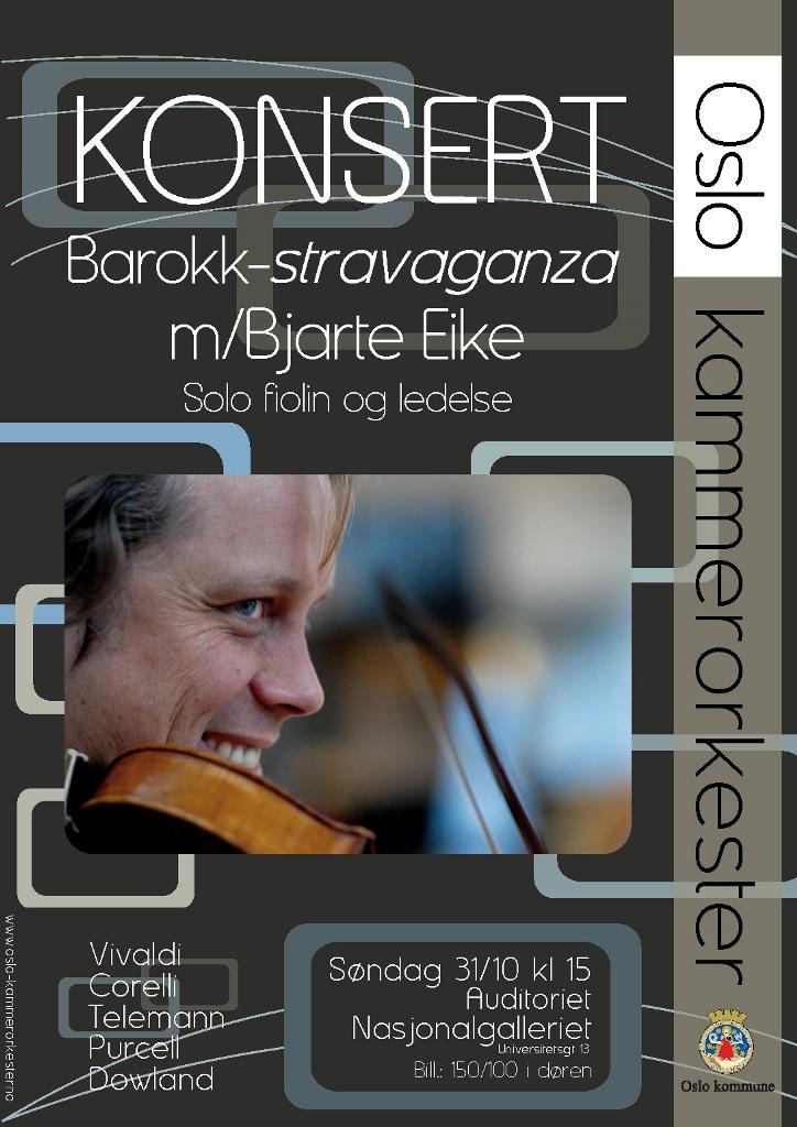 Plakat for konsert med Oslo kammerorkester 31. oktober 2010